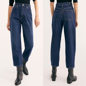 NWOT | We The Free Pleated High Waisted Jeans